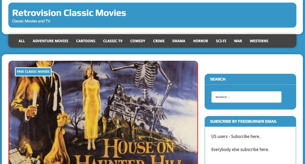 Retrovision: Movies download website