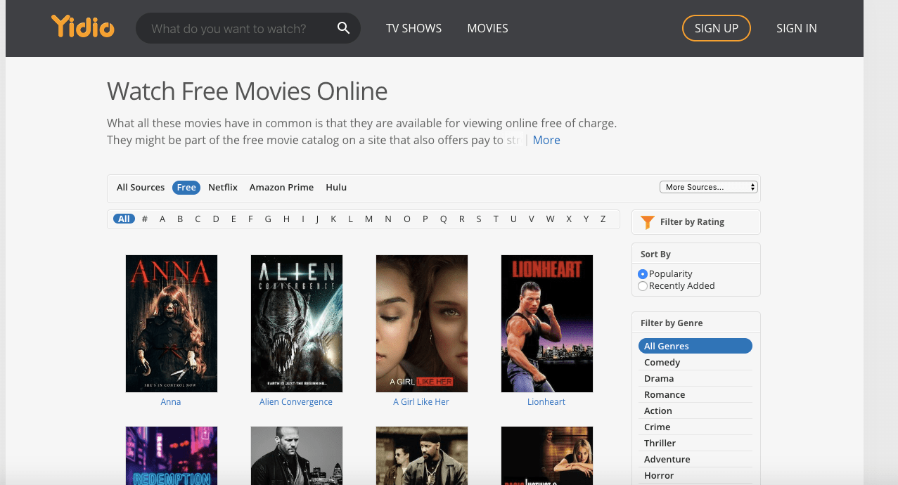 YIDIO: Free Movies Download