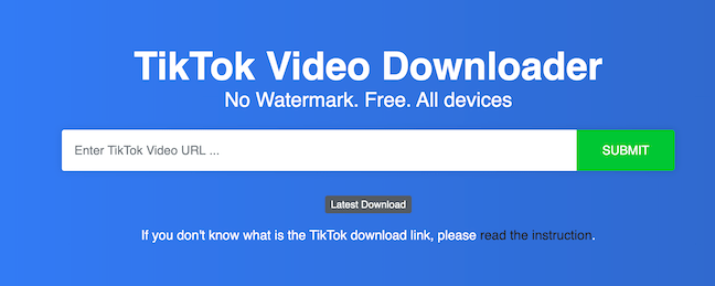 Download TikTok videos without watermark