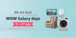 Get up to 60% discount on TVs, Home Appliances & Other products – Amazon's WOW Salary Days sale