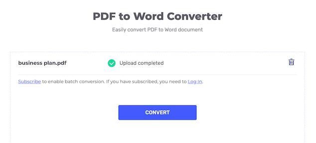 HiPDF: Convert PDF to Word Document