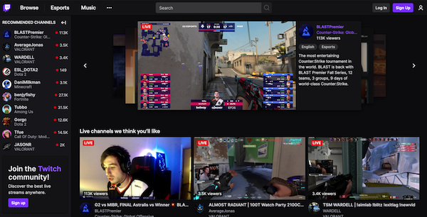 Twitch Game Streaming