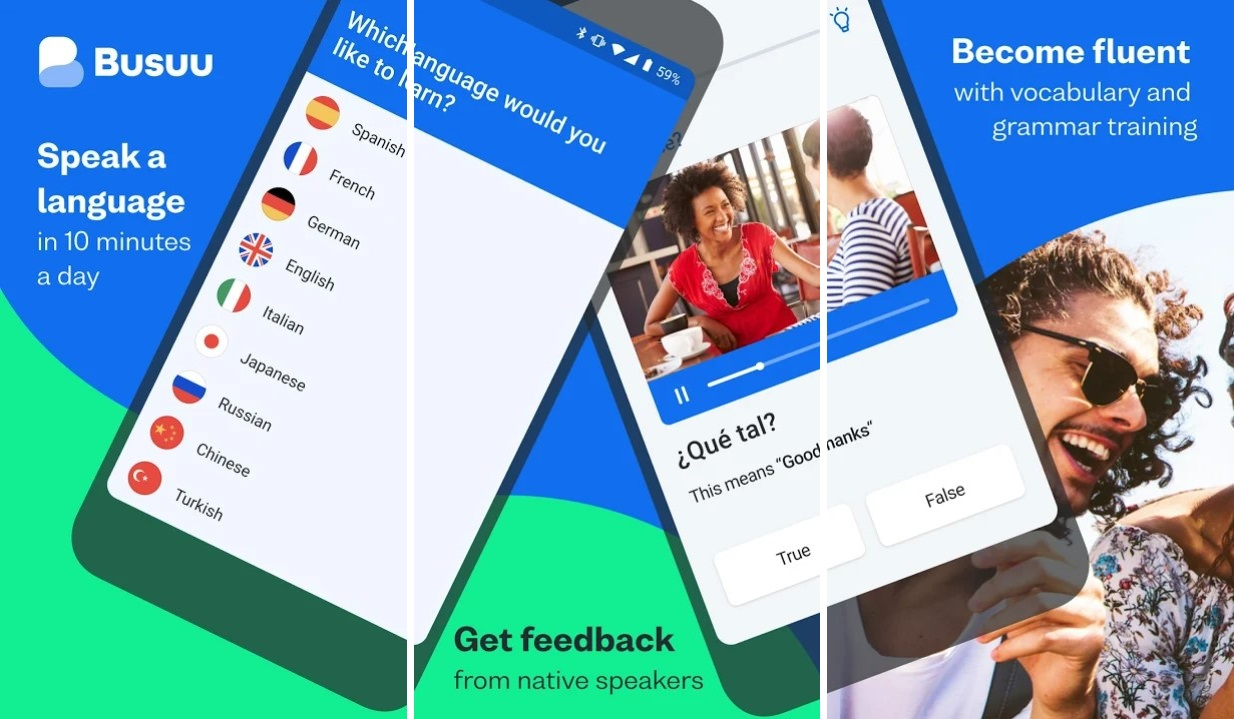 Bussu app for french learning