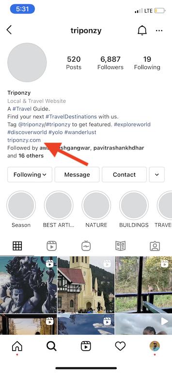 Share Links on Instagram