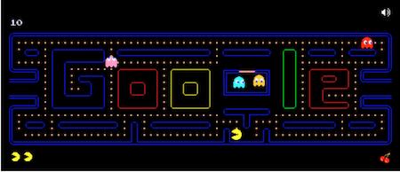 Pac Man Doodle Game