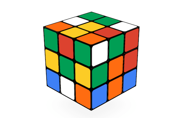 Rubik's Cube Doodle game