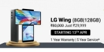 LG Wing is getting a price cut of Rs. 40000; will be available at Rs. 29,999