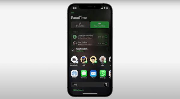 FaceTime Sharable Link
