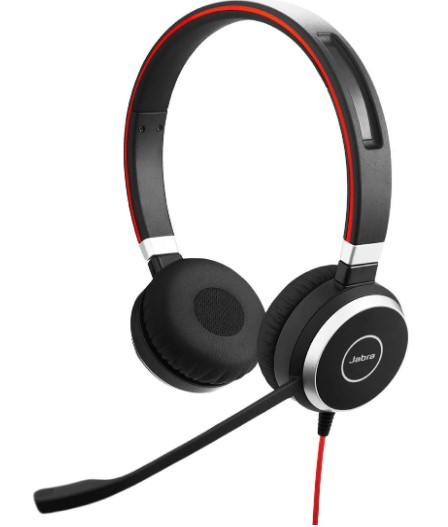 Jabra Evolve 40 UC Ove- Ear Stereo wired Headset with Mic