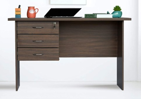 DeckUp Reno Engineered Wood Matte Finish Office Table and Study Desk