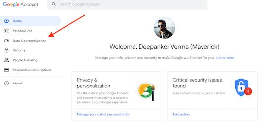 Delete Google Account