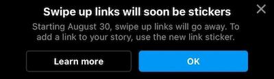 swipe up links