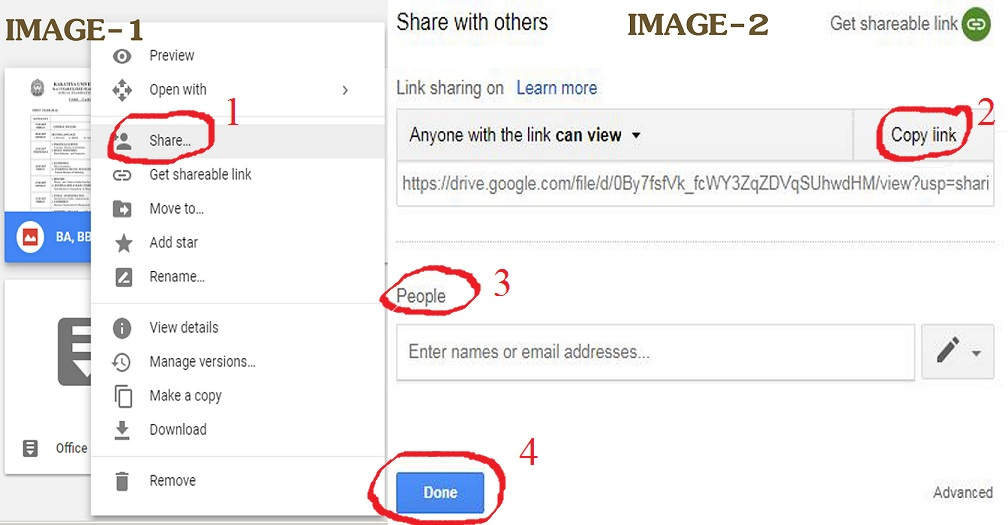how to share files on google drive