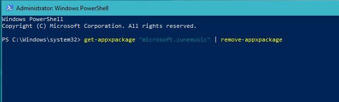 Uninstall Default Apps Using Windows Powershell