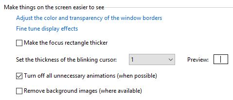 Turn Off Animation Visual Effects In Windows 10
