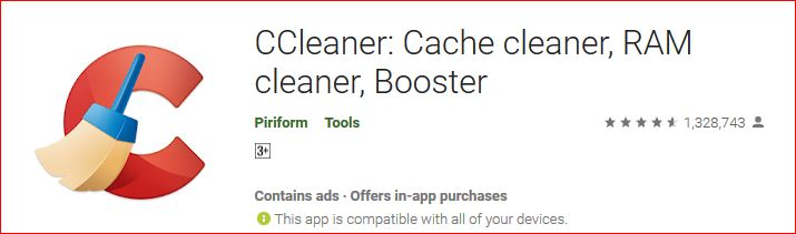 CC Cleaner cache and RAM cleaner and booster for android