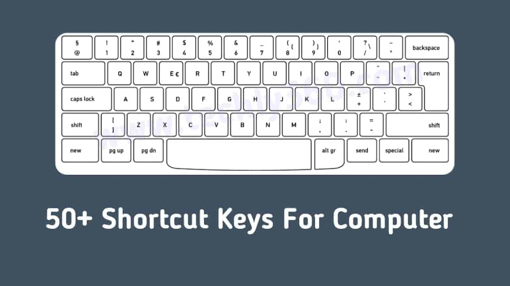 50+ Shortcut Keys For Computer [Shortcut Keys For Computer PDF]
