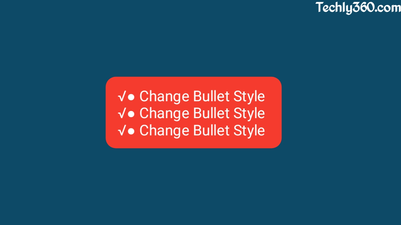 How To Change Bullet Style in Blogger Template