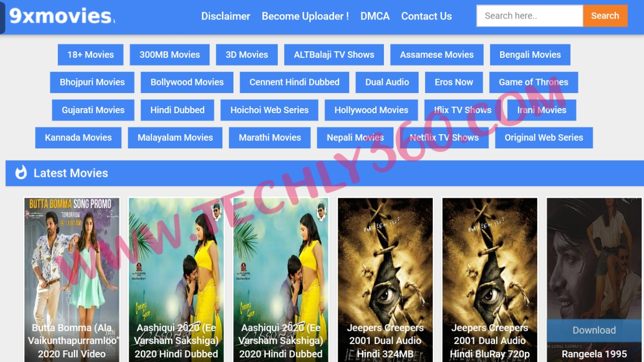 9xMovies 2021 : Download Free Bollywood, Hollywood and Tamil Movies