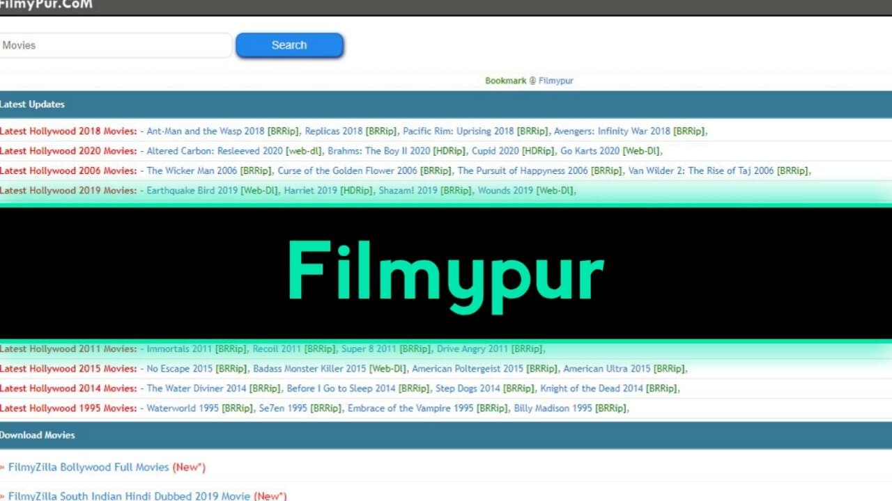 Filmypur 2020: Filmypur Bollywood Movies illegal Download Online, Filmypur com Hindi, Punjabi, South Movies Download