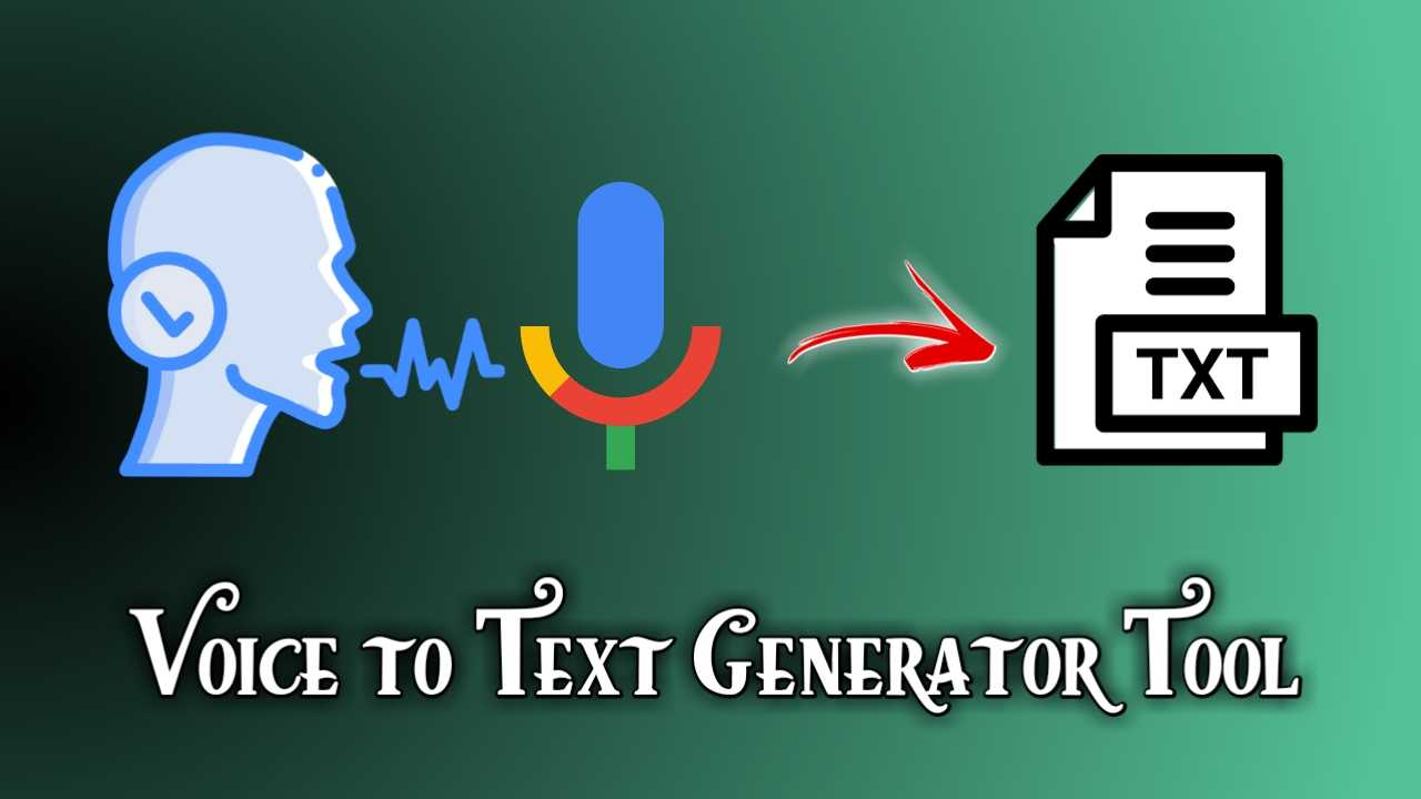 Voice to Text Generator Tool in Blogger Blogspot