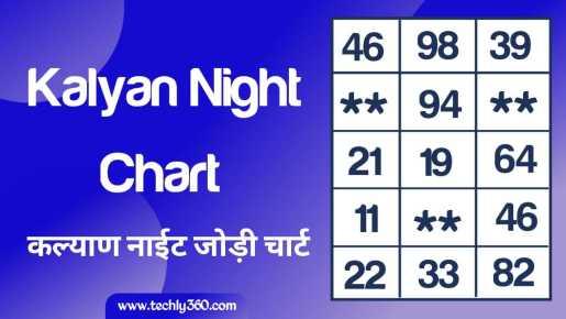 Kalyan Night Chart, Kalyan Night Jodi Chart: कल्याण नाईट चार्ट, कल्याण नाईट जोड़ी चार्ट