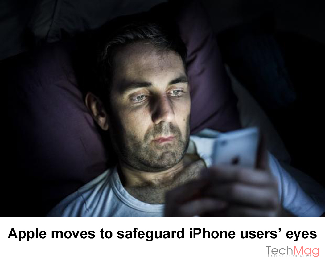 safety of iPhone users' eyes