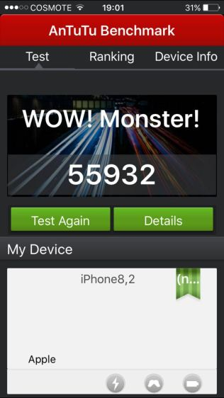 iPhone 6s Plus AntuTu 5.x