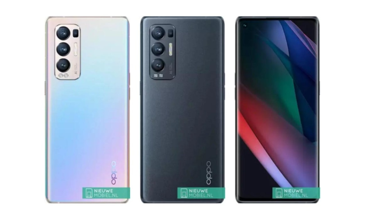 oppo reno find x3 neo renders