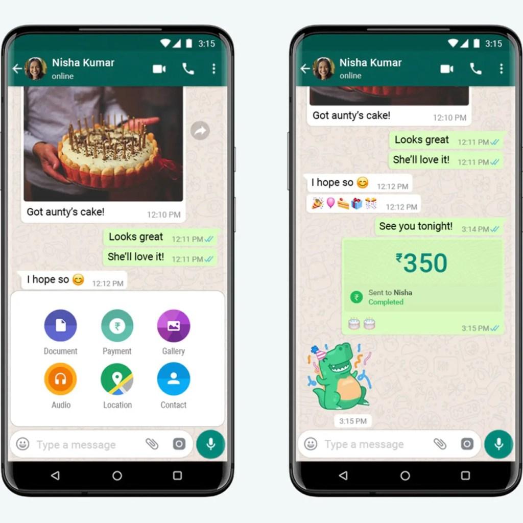WhatsApp Payment process