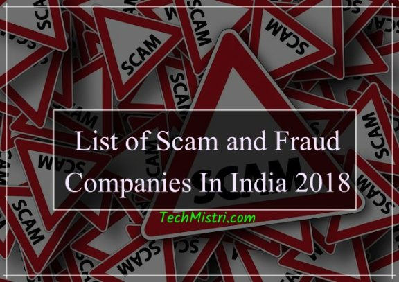 List of scam company in india