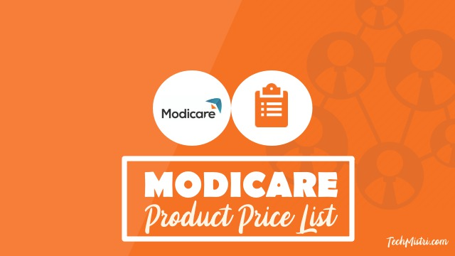 Modicare-Product-Price-List