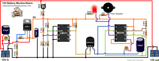 12V Lead Acid Battery Monitor