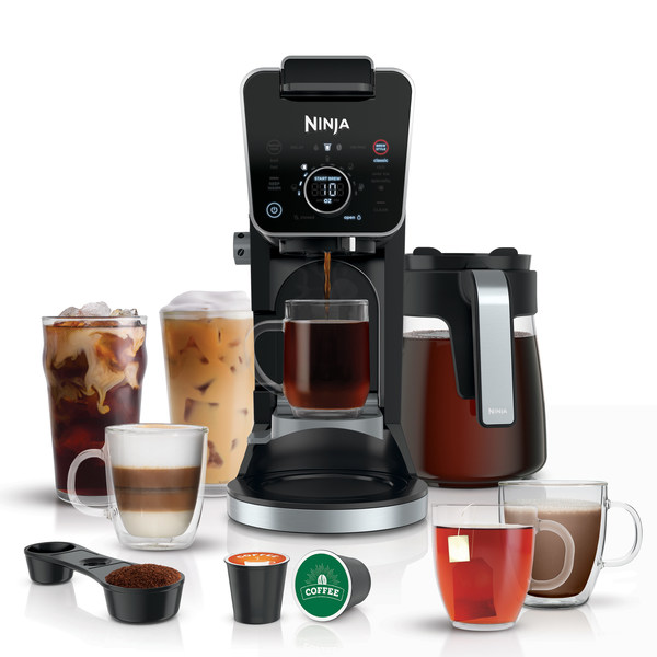 The versatile Ninja® DualBrew Pro Specialty Coffee System now offers the choice of brewing grounds or pods.