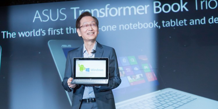ASUS Chairman Jonney Shih Unveils the ASUS Transformer Book Trio