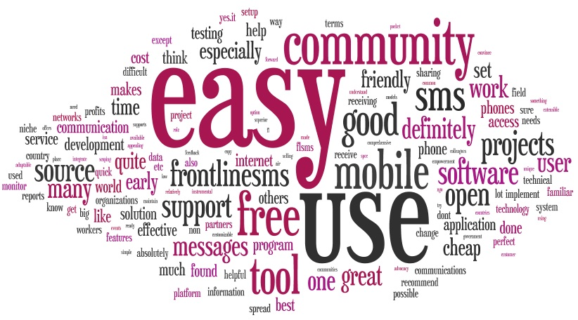 Word-cloud_Would-you-recommend-FrontlineSMS