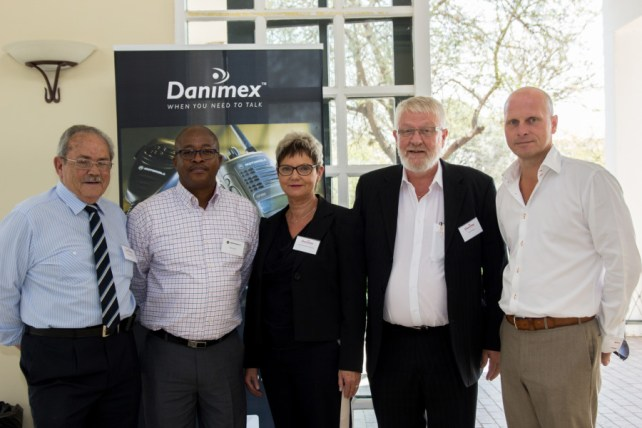 Johan van Zyl - GM Danimex SA, Brauce Kau -  Regional  sales  Manager  at Motorola Solutions, Jytte Kaufmann Thomsen – owner and board member of Danimex International, Egon Bruun – Chairman of Danimex International, and Henrik Asbjørn of Danimex