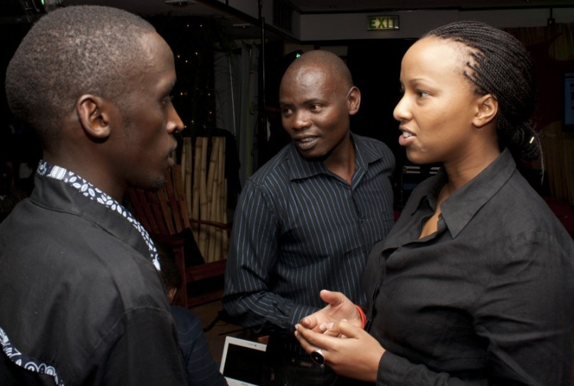 James, Kachwanya and Maryanne agreeing on which categories to add