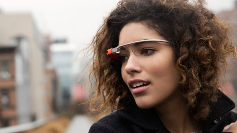 A lady wearing Google Glass (TechDay.com)