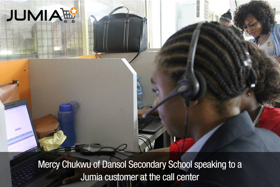 Mercy Chukwu at the Jumia Call Centre