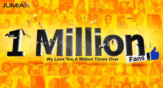 Jumia 1 Million fans banner