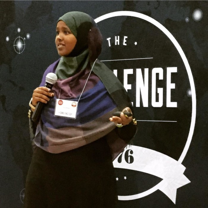 Leila, pitching at the 1776 challenge