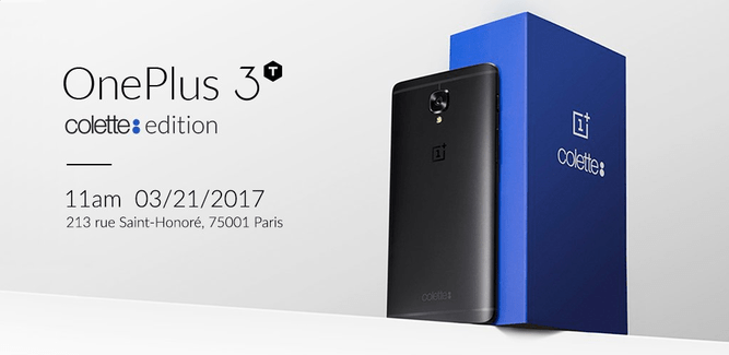 One Plus 3T Colette launched, a very limited edition fashion oriented phone.