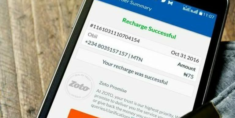 Nigeria's Mobile Phone Recharge App, Zoto Now Has Over One Million Users
