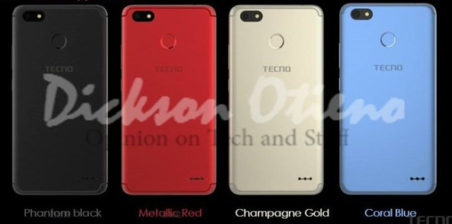 The leaked Tecno Spark