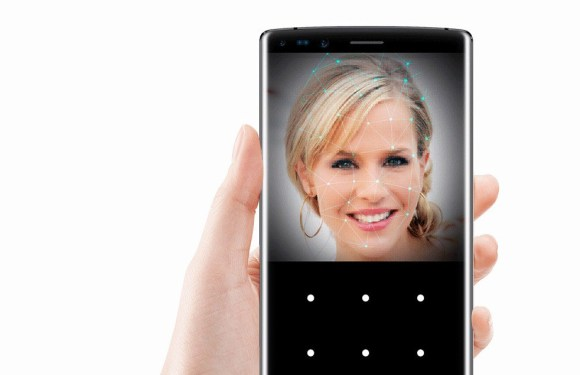 3 smartphones aside the iPhone X with Face ID recognition technology
