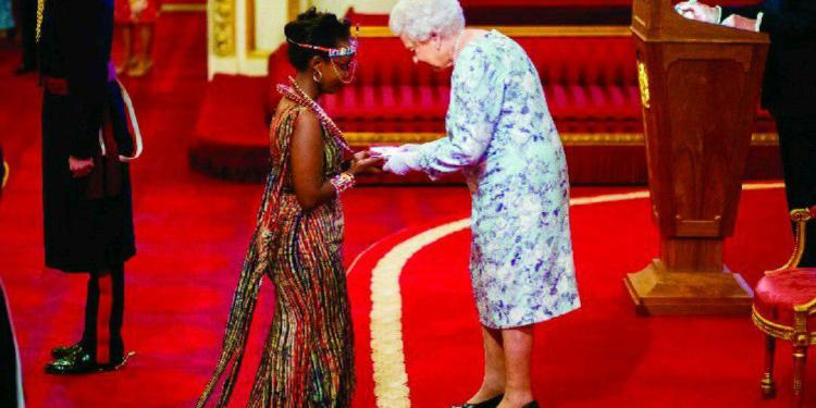 CEO Bright Green Chebet Lesan with the Queen. (Photo: Bright Green Renewable Energy )