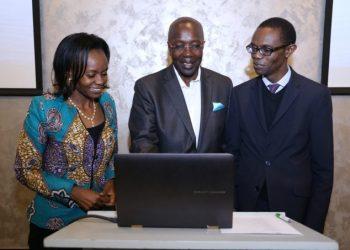 (R-L) Verus Global System Board Member Carole Kariuki, Verus Global Chairman Ken Wathome, and Dr. Gilbert Saggia, Verus Global System Board Member