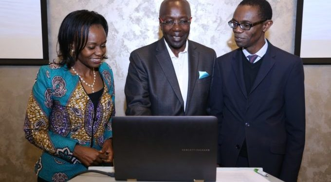 (R-L) Verus Global System Board Member Carole Kariuki, Verus Global Chairman Ken Wathome, and Dr. Gilbert Saggia, Verus Global System Board Member