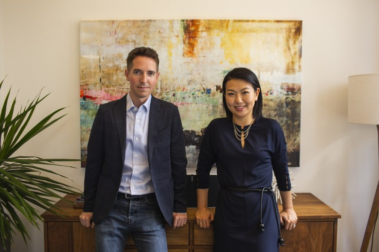 Glenn Rockman and Jenny Yip, managing partners at Adjuvant Capital. (PRNewsfoto/Adjuvant Capital)